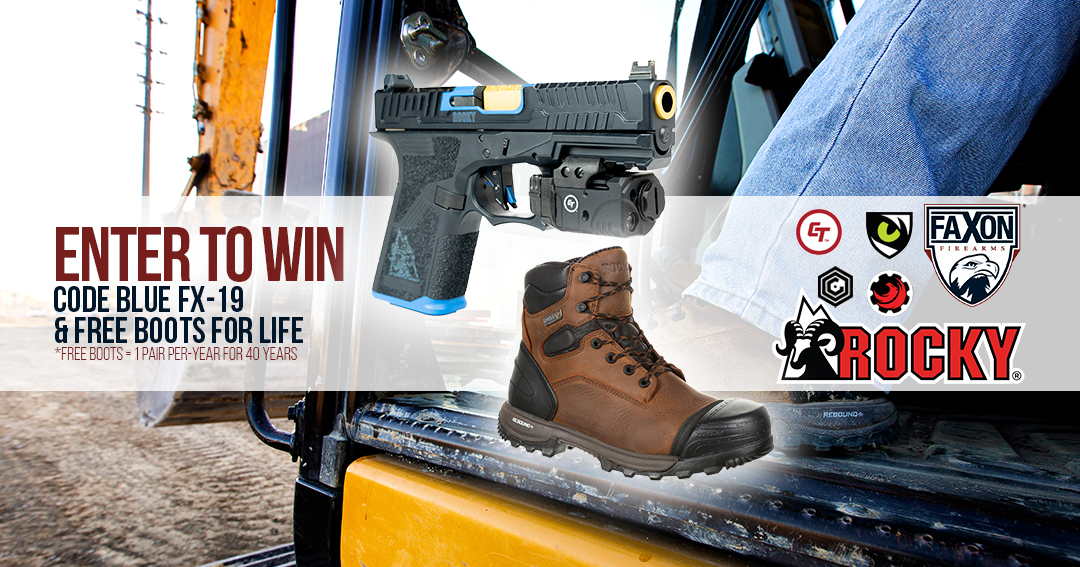 Enter To Win A Code Blue FX-19 & Free boots for life.